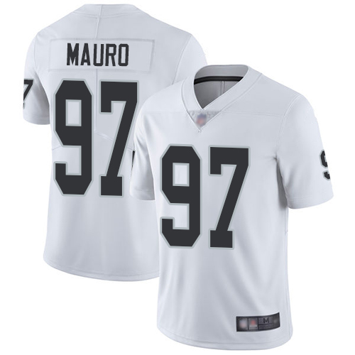 Men Oakland Raiders Limited White Josh Mauro Road Jersey NFL Football 97 Vapor Untouchable Jersey