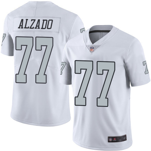 Men Oakland Raiders Limited White Lyle Alzado Jersey NFL Football 77 Rush Vapor Untouchable Jersey