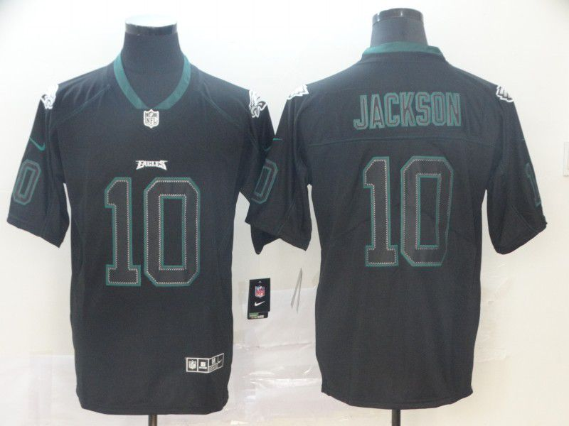 Men Philadelphia Eagles 10 Jackson Nike Lights Out Black Color Rush Limited NFL Jerseys
