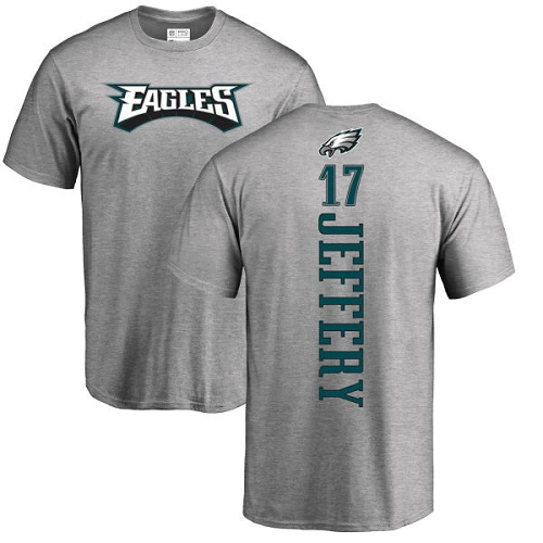 Wholesale Men Philadelphia Eagles 17 Alshon Jeffery Ash Backer NFL T Shirt