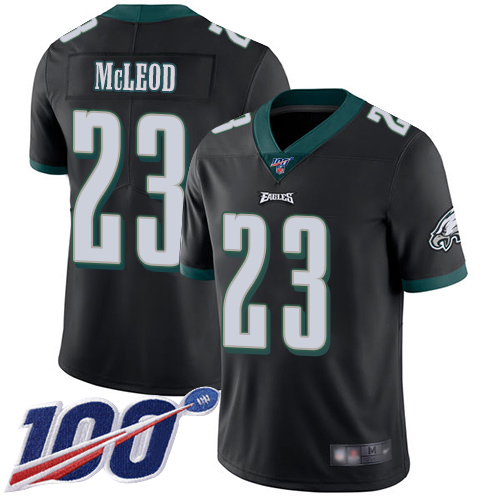 Wholesale Men Philadelphia Eagles 23 Rodney McLeod Black Alternate Vapor Untouchable NFL Jersey Limited Player 100th
