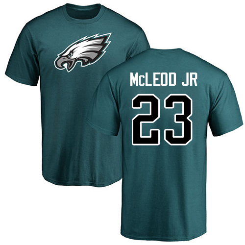 Wholesale Men Philadelphia Eagles 23 Rodney McLeod Green Name and Number Logo NFL T Shirt