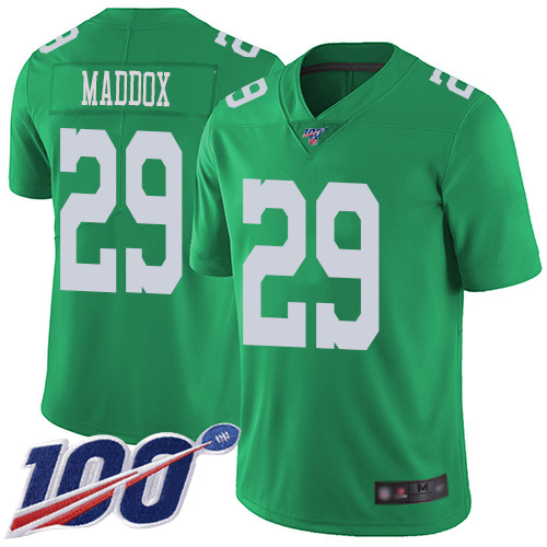 Wholesale Men Philadelphia Eagles 29 Avonte Maddox Limited Green Rush Vapor Untouchable NFL Jersey 100th Season