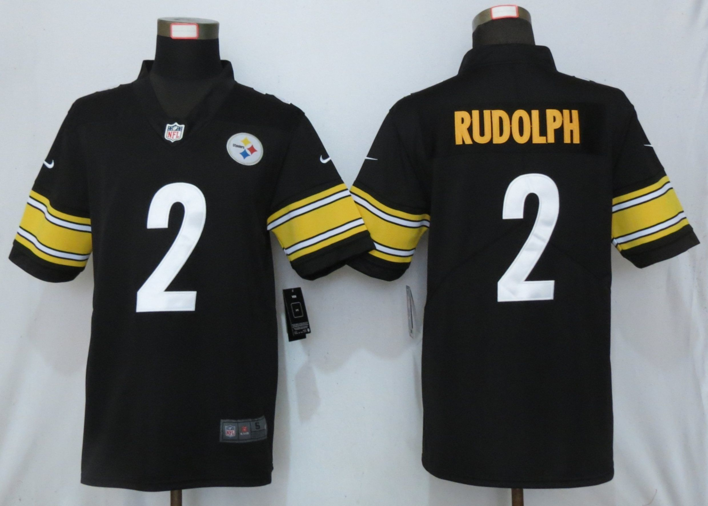 Men Pittsburgh Steelers 2 Rudolph Black Nike Vapor Untouchable Limited NFL Jerseys