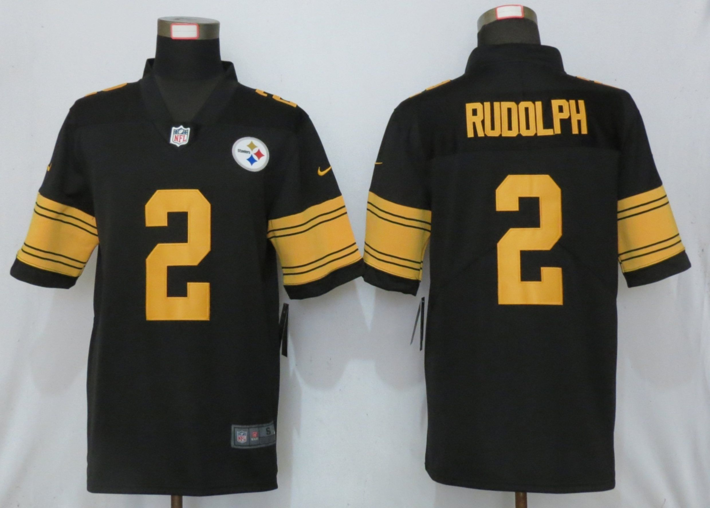 Men Pittsburgh Steelers 2 Rudolph Navy Black Nike Color Rush Limited NFL Jerseys
