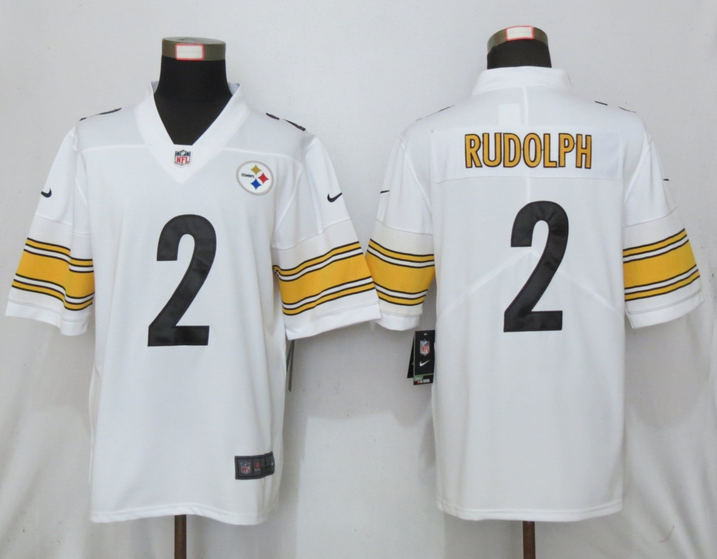 Men Pittsburgh Steelers 2 Rudolph White Nike Vapor Untouchable Limited NFL Jerseys