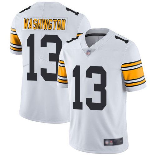 Men Pittsburgh Steelers Football 13 Limited White James Washington Road Vapor Untouchable Nike NFL Jersey