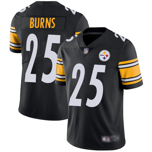 Men Pittsburgh Steelers Football 25 Limited Black Artie Burns Home Vapor Untouchable Nike NFL Jersey