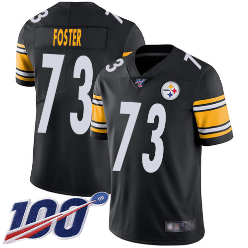 Men Pittsburgh Steelers Football 73 Limited Black Ramon Foster Home 100th Season Vapor Untouchable Nike NFL Jersey