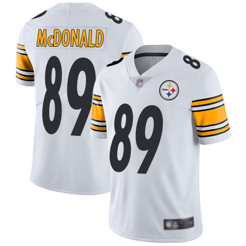 Men Pittsburgh Steelers Football 89 Limited White Vance McDonald Road Vapor Untouchable Nike NFL Jersey