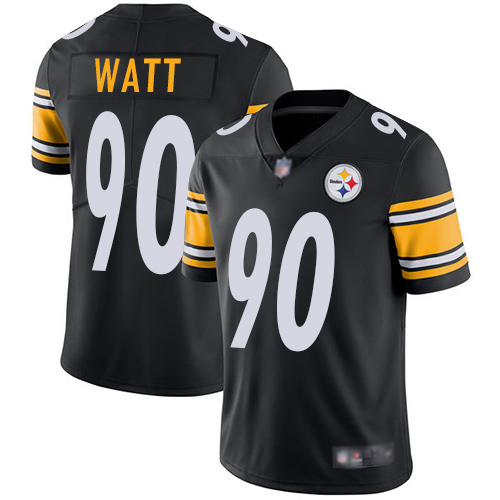 Men Pittsburgh Steelers Football 90 Limited Black T J Watt Home Vapor Untouchable Nike NFL Jersey
