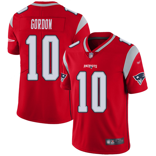 New England Patriots Football 10 Inverted Legend Limited Red Men Josh Gordon NFL Jersey