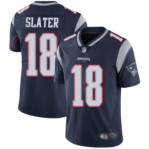 New England Patriots Football 18 Vapor Limited Navy Blue Men Matthew Slater Home NFL Jersey