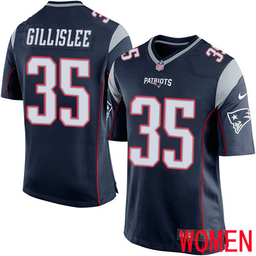 Wholesale New England Patriots Football 25 Rush Vapor Limited Navy Blue Women Terrence Brooks NFL Jersey
