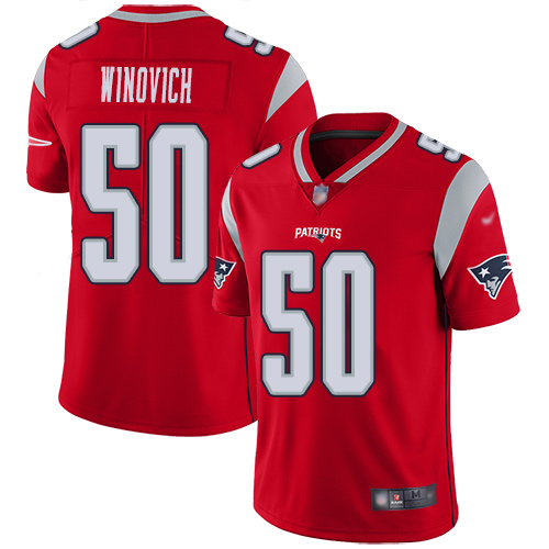 Wholesale New England Patriots Football 50 Inverted Legend Limited Red Men Chase Winovich NFL Jersey