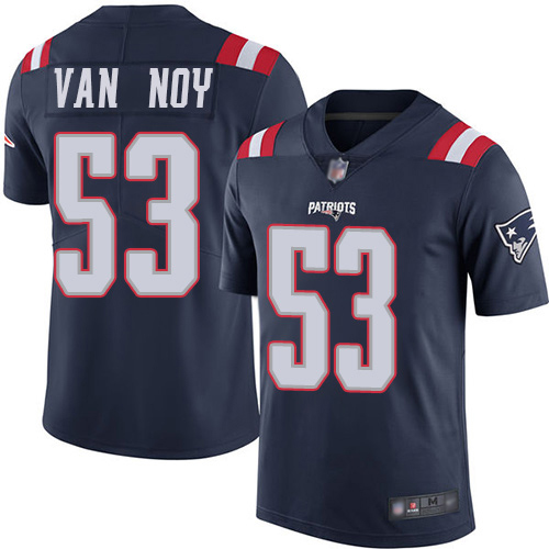 New England Patriots Football 53 Rush Vapor Untouchable Limited Navy Blue Men Kyle Van Noy NFL Jersey