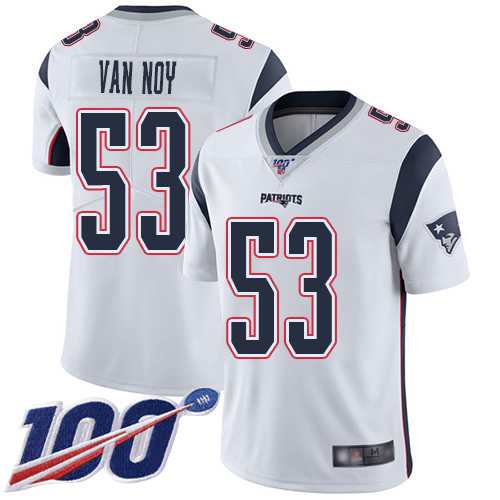 New England Patriots Football 53 Vapor Untouchable 100th Season Limited White Men Kyle Van Noy Road NFL Jersey