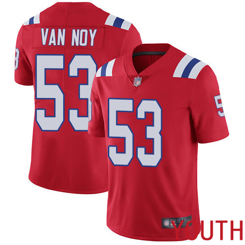 Wholesale New England Patriots Football 53 Vapor Untouchable Limited Red Youth Kyle Van Noy Alternate NFL Jersey
