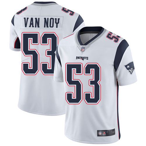 Wholesale New England Patriots Football 53 Vapor Untouchable Limited White Men Kyle Van Noy Road NFL Jersey