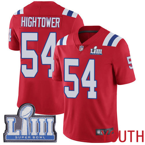 New England Patriots Football 54 Super Bowl Limited Red Youth Dont a Hightower Alternate NFL Jersey