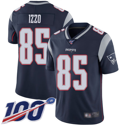 New England Patriots Football 85 Vapor Untouchable 100th Season Limited Navy Blue Men Ryan Izzo Home NFL Jersey
