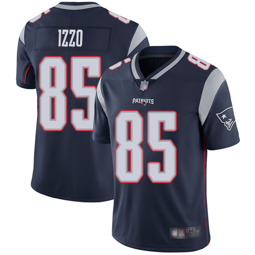 New England Patriots Football 85 Vapor Untouchable Limited Navy Blue Men Ryan Izzo Home NFL Jersey