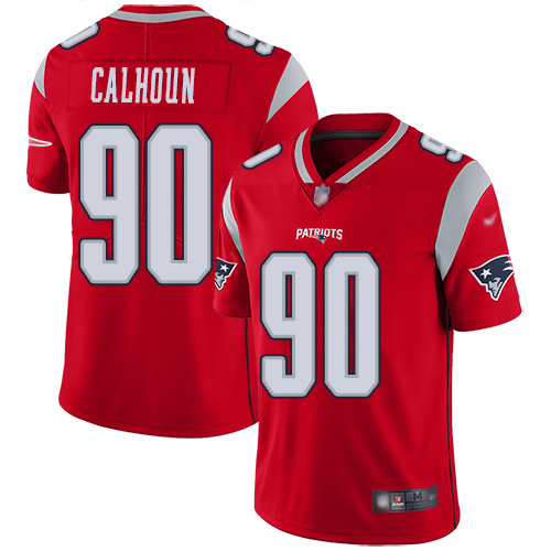 New England Patriots Football 90 Inverted Legend Limited Red Men Shilique Calhoun NFL Jersey