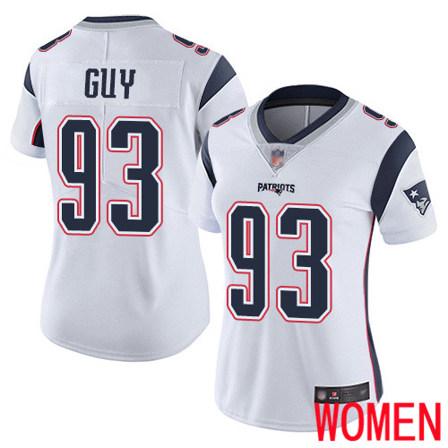 New England Patriots Football 93 Vapor Limited White Women Lawrence Guy Road NFL Jersey