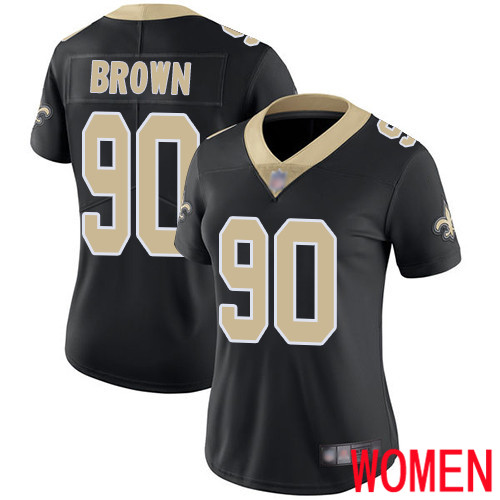 New Orleans Saints Limited Black Women Malcom Brown Home Jersey NFL Football 90 Vapor Untouchable Jersey