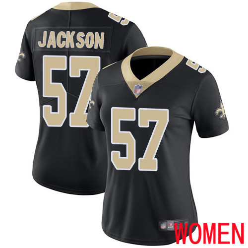 New Orleans Saints Limited Black Women Rickey Jackson Home Jersey NFL Football 57 Vapor Untouchable Jersey