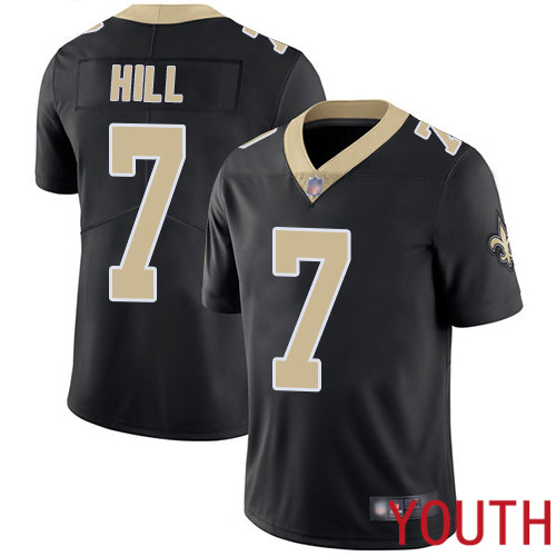 New Orleans Saints Limited Black Youth Taysom Hill Home Jersey NFL Football 7 Vapor Untouchable Jersey