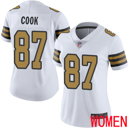 New Orleans Saints Limited White Women Jared Cook Jersey NFL Football 87 Rush Vapor Untouchable Jersey
