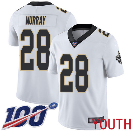 New Orleans Saints Limited White Youth Latavius Murray Road Jersey NFL Football 28 100th Season Vapor Untouchable Jersey