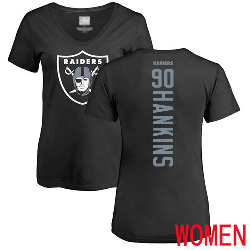 Oakland Raiders Black Women Johnathan Hankins Backer NFL Football 90 T Shirt