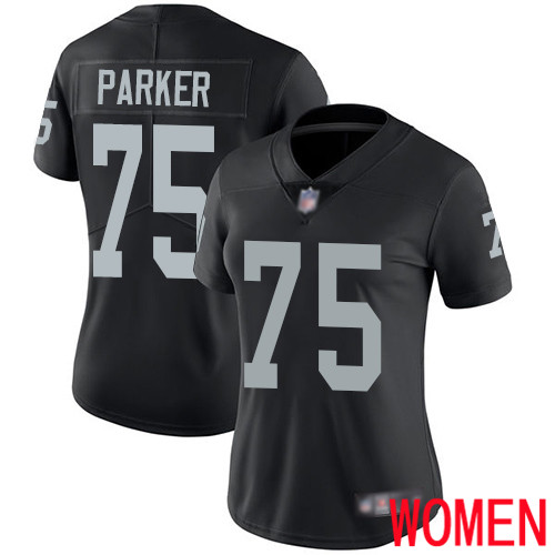 Oakland Raiders Limited Black Women Brandon Parker Home Jersey NFL Football 75 Vapor Untouchable Jersey