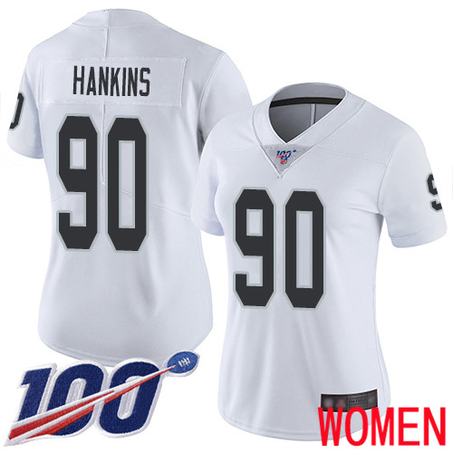 Oakland Raiders Limited White Women Johnathan Hankins Road Jersey NFL Football 90 100th Jersey
