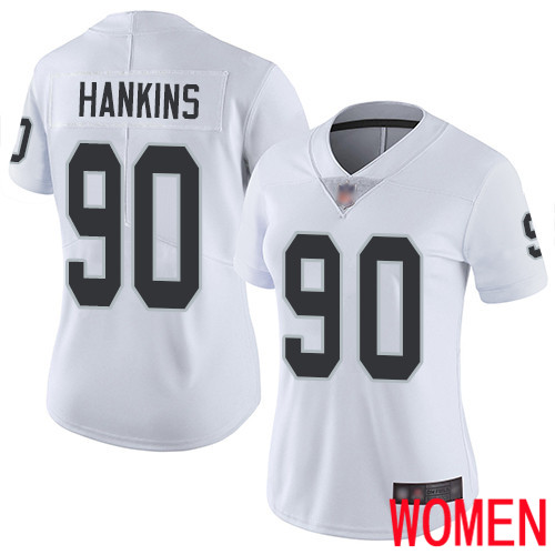 Oakland Raiders Limited White Women Johnathan Hankins Road Jersey NFL Football 90 Vapor Jersey