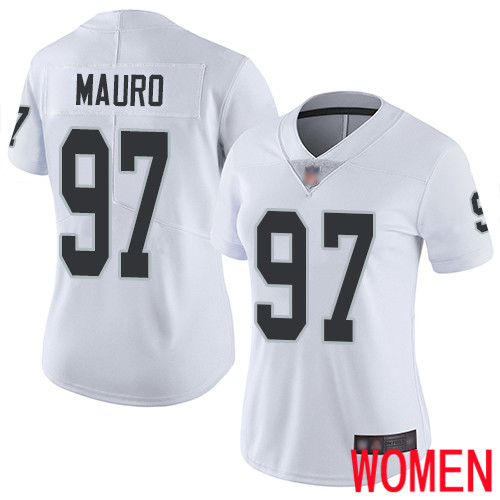 Oakland Raiders Limited White Women Josh Mauro Road Jersey NFL Football 97 Vapor Untouchable Jersey