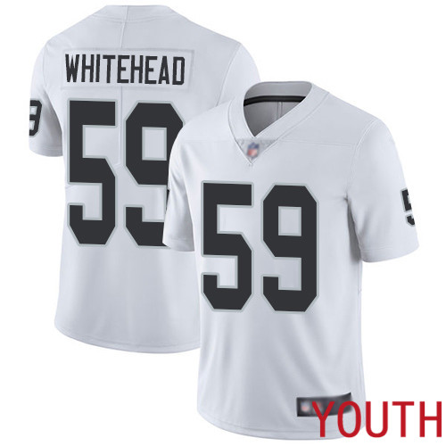 Oakland Raiders Limited White Youth Tahir Whitehead Road Jersey NFL Football 59 Vapor Untouchable Jersey