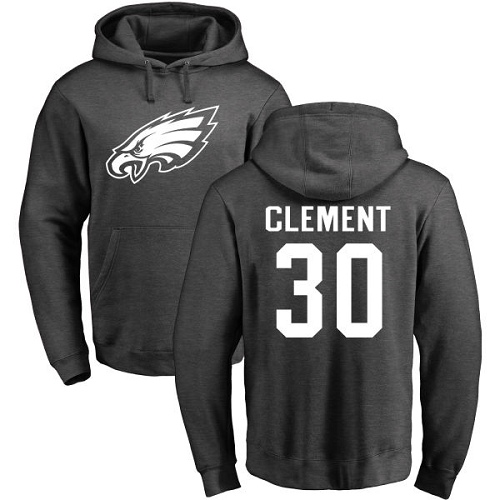 Philadelphia Eagles 30 Corey Clement Ash One Color NFL Pullover Hoodie Sweatshirts
