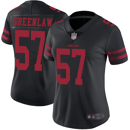 San Francisco 49ers Limited Black Women Dre Greenlaw Alternate NFL Jersey 57 Vapor Untouchable
