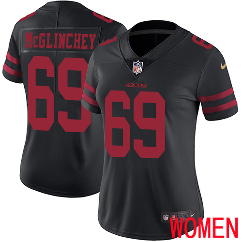San Francisco 49ers Limited Black Women Mike McGlinchey Alternate NFL Jersey 69 Vapor Untouchable