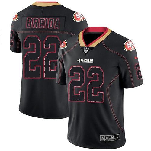 San Francisco 49ers Limited Lights Out Black Men Matt Breida NFL Jersey 22 Rush
