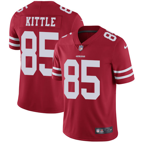 San Francisco 49ers Limited Red Men George Kittle Home NFL Jersey 85 Vapor Untouchable
