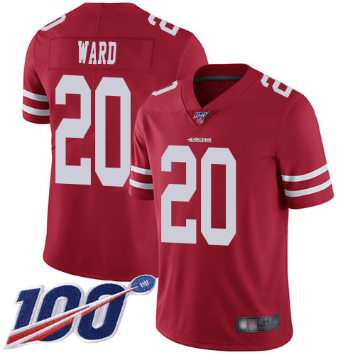 San Francisco 49ers Limited Red Men Jimmie Ward Home NFL Jersey 20 100th Season Vapor Untouchable