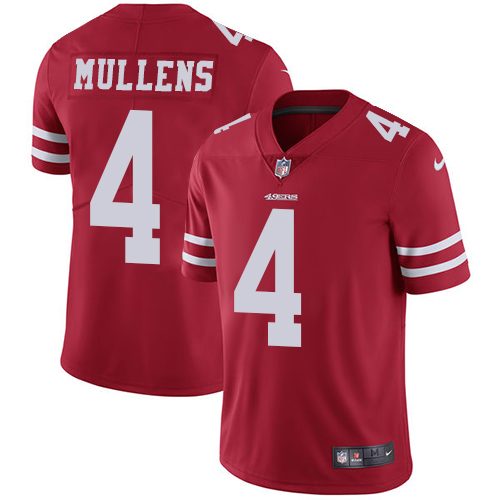 San Francisco 49ers Limited Red Men Nick Mullens Home NFL Jersey 4 Vapor Untouchable