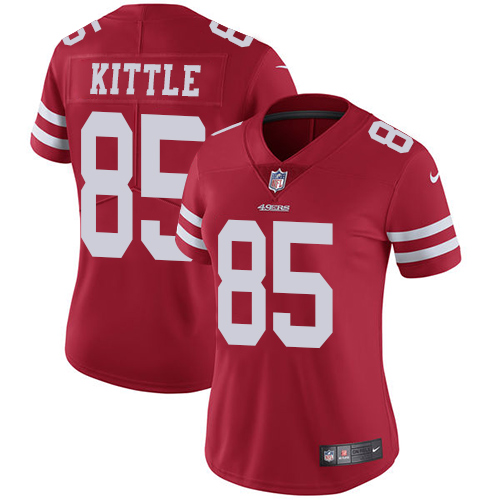 San Francisco 49ers Limited Red Women George Kittle Home NFL Jersey 85 Vapor Untouchable