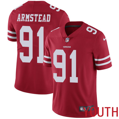 San Francisco 49ers Limited Red Youth Arik Armstead Home NFL Jersey 91 Vapor Untouchable