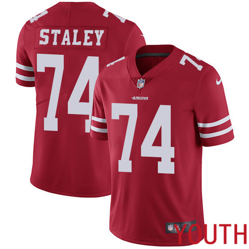 San Francisco 49ers Limited Red Youth Joe Staley Home NFL Jersey 74 Vapor Untouchable