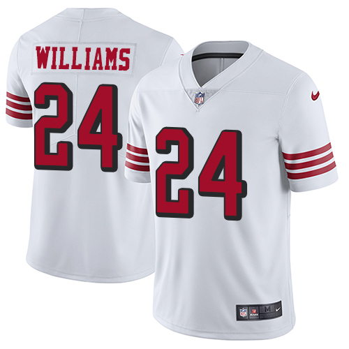 San Francisco 49ers Limited White Men K Waun Williams NFL Jersey 24 Rush Vapor Untouchable